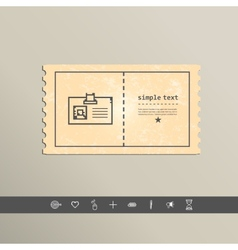 Simple stylish pixel icon cards design vector