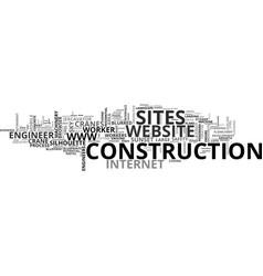 Sites word cloud concept vector