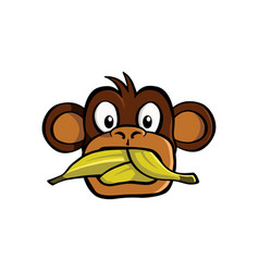 speak no evil monkey vector image
