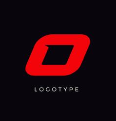 Speed letter o red race monogram logo italic vector