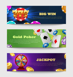 sports gambling banners with lottery machine vector image