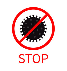 Stop coronavirus covid 19 icon corona virus vector
