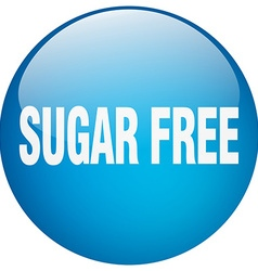 Sugar free blue round gel isolated push button vector