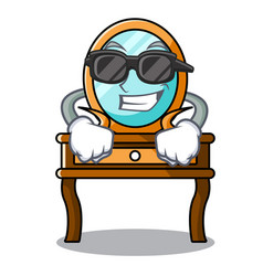 super cool dressing table character cartoon vector image