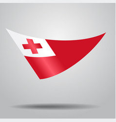 Tonga flag background vector
