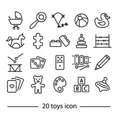 twenty line toys icon vector image