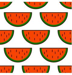 watermelon slices pattern summer fresh tasty vector image vector image