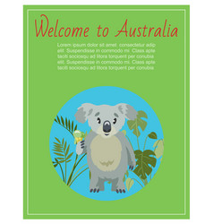 welcome to australia poster lettering diverse vector image