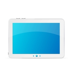 White tablet pc isolated vector image