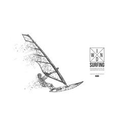 Windsurfing silhouette a windsurfer freeride vector