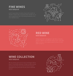 Wine Industry Banners vector image