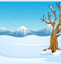 winter mountain landscape w vector image