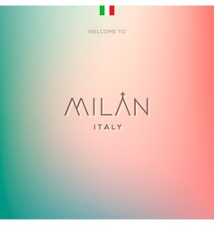 World Cities labels - Milan vector image