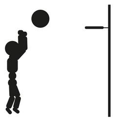 basketball player man black vector image