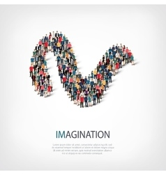 imagination people sign 3d vector image vector image