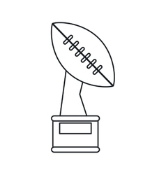 Trophy winner ball shape american football outline vector