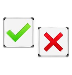 Check and Cross Symbols vector image