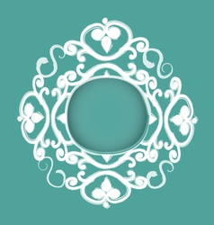 Hand drawn decorative frame vector image vector image