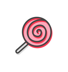 lollipop traditional candy vector image vector image