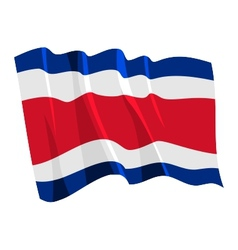 political waving flag of costa rica vector image