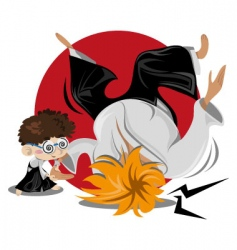 aikido male vector image vector image