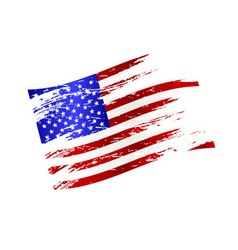 color american national flag grunge style eps10 vector image vector image