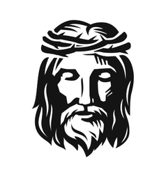 Face of Jesus vector image