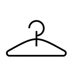 hanger icon black sign on vector image vector image