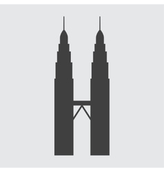 Petronas Tower icon vector image vector image