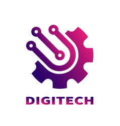 abstract sign digital technologies branding vector image vector image