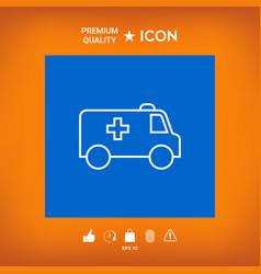 Ambulance line icon vector