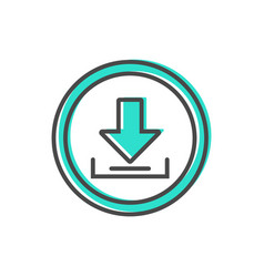 Data sorting icon with loading process sign vector