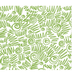 greenery doodles seamless pattern background vector image
