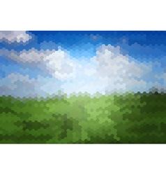 Mosaic Artistic Background of Grass vector image vector image