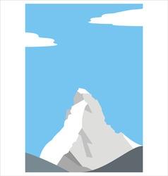 mount matterhorn in the alps vector image