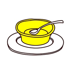 A view of empty bowl vector