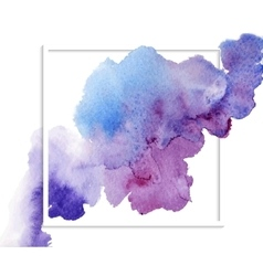 Abstract watercolor banner vector