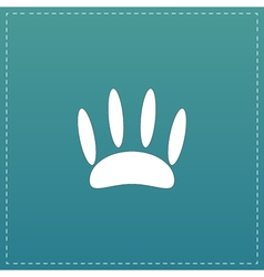 Animal footprint flat icon vector image