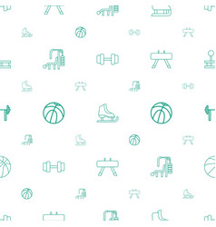 Athletic icons pattern seamless white background vector