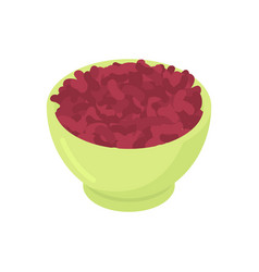 bowl of red bean cereal isolated healthy food for vector image