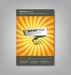 Brochures book or flyer with abstract pointer vector image