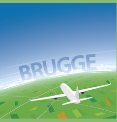 Bruges flight destination vector