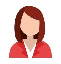 Business avatar woman and suit graphic vector
