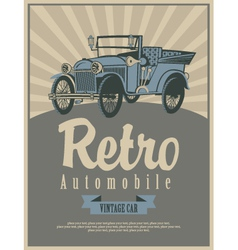car retro vector image