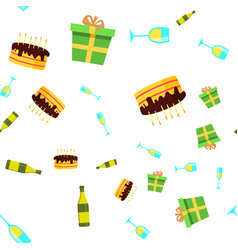 celebration seamless pattern birthday vector image