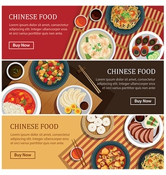 Chinese food web bannerChinese street food coupon vector