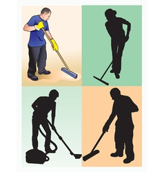 cleaners vector image