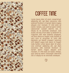 coffee concept with thin line icons vector image