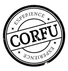 Corfu stamp rubber grunge vector image