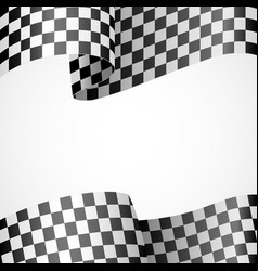Decoration of racing flag on white vector